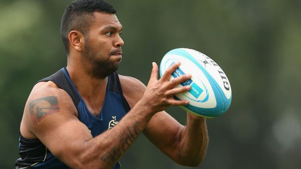 Kurtley Beale training with Wallabies in September. The Waratahs back returned to the Wallabies fold in Dublin.