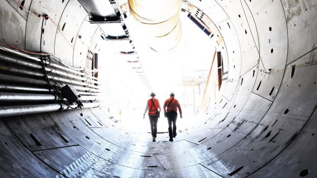 The light at the end of the tunnel that's part of the north-west rail link.
