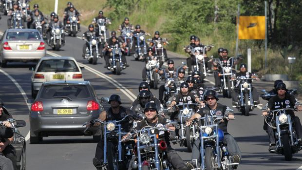 On the road: Thousands of bikies are expected to descend on Canberra to protest what they call draconian laws.