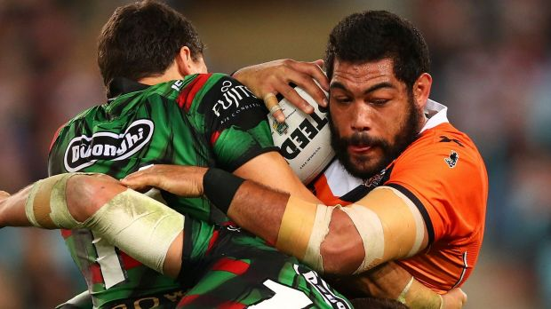 Heading north: Wests Tigers have released Adam Blair.