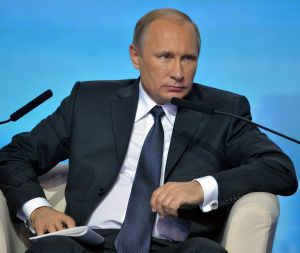 """Over the moon: Vladimir Putin has said his """"Australian partners created an extraordinarily welcoming atmosphere for work""""."""