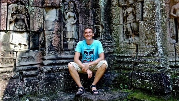 Tom Ricketson at Angkor, Siem Reap: The Sydney man died in a nightclub fire on Tuesday.