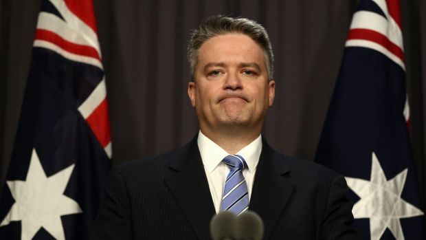 Under pressure to find a compromise: Finance Minister Senator Mathias Cormann.