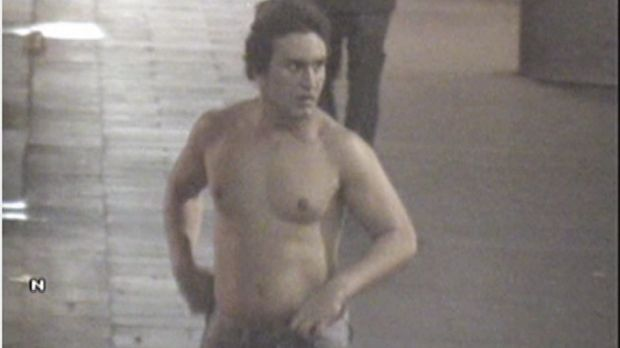 Final moments described: CCTV footage of Roberto Curti on the night he died.