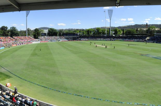 Australia take on South Africa in the One Day International match at Manuka Oval in Canberra.