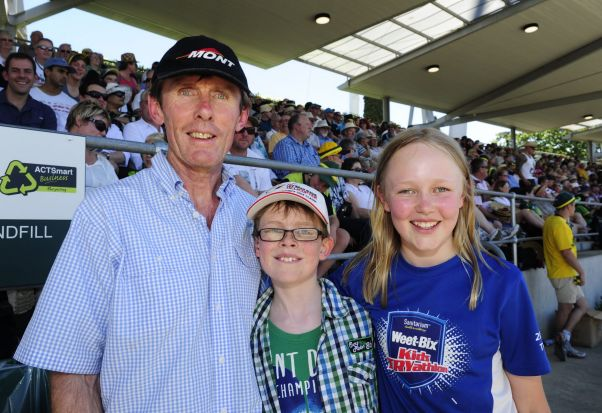 From left, The O'Brien family of Chapman, Shane, Tom,10 and Rosie,11.