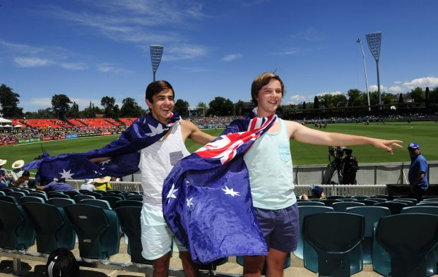 From left, Adam Neou,16 of Garran and Findlay Doyle,16 of Dickson.