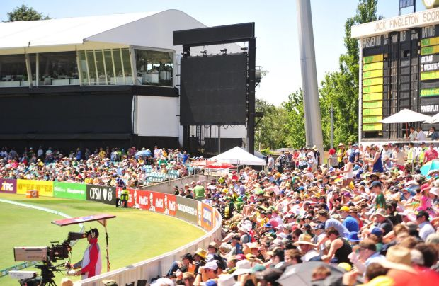 A power outage at Manuka Oval in Canberra .