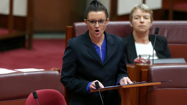 PUP Senator Jacqui Lambie launches a stinging attack against party leader Clive Palmer in the Senate on Wednesday.