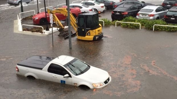 Flooding at Constance Street, Fortitude Valley.