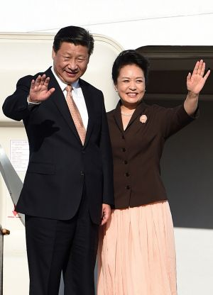 Abbott offers China a fond farewell: China's President Xi Jinping and his wife Peng Liyuan.