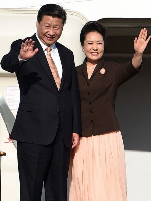 China's President Xi Jinping and his wife Peng Liyuan prepare to depart Sydney this week.