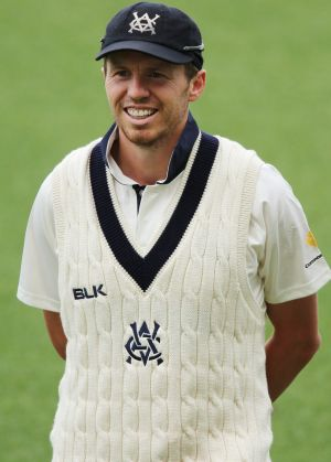 Standing tall: Peter Siddle.