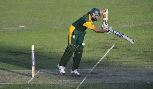 South Africa batsman Hashim Amla in action.