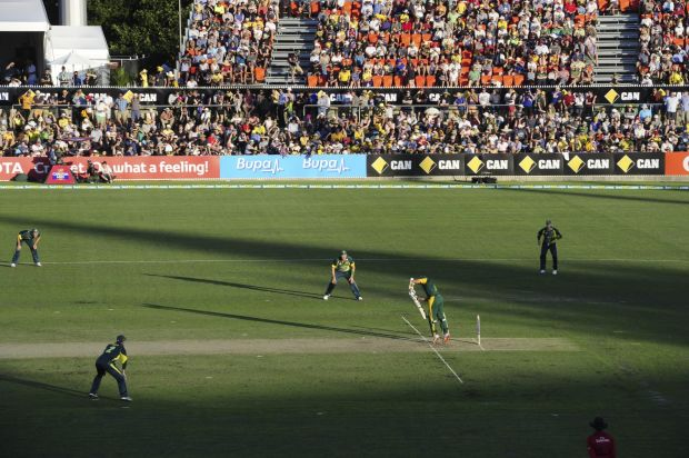 The One Day International match between Australia and South Africa at Manuka Oval in Canberra.