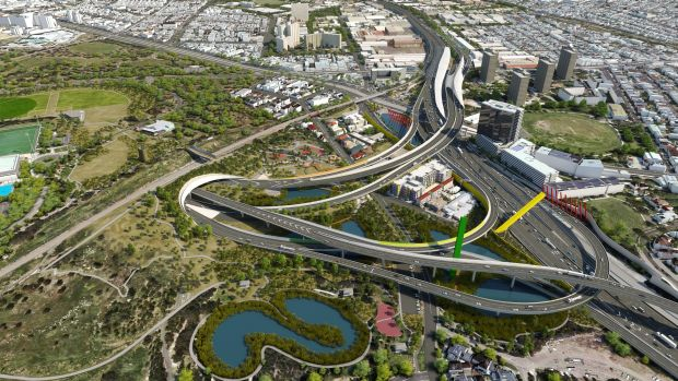 Artists impression of East West link western gateway.
