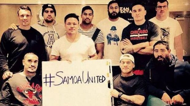 Support for Samoa: A number of star All Blacks tweeted this photo in support of Samoa's rugby players who are embroiled ...