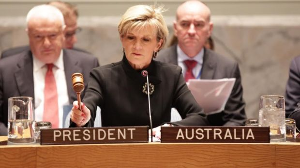 Foreign Minister Julie Bishop has taken issue with US President Barack Obama's weekend speech in which he alluded to ...