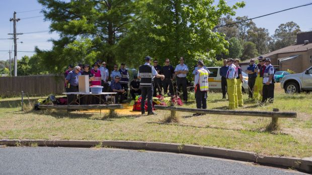 Briefing: ACT Fire and Rescue at the scheduled house fire in Farrer on Thursday.