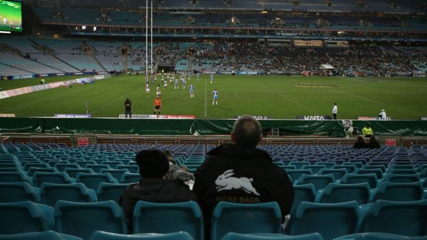 Lacking atmosphere: ANZ Stadium is not always the greatest place to watch rugby league.