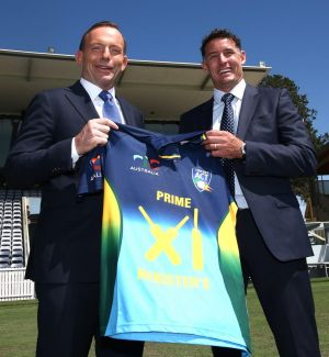 Prime Minister Tony Abbott announces that Michael Hussey will captain the Prime Minister's XI in January.