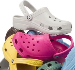 CROCS: Not usually considered suitable footwear for long-distance running.