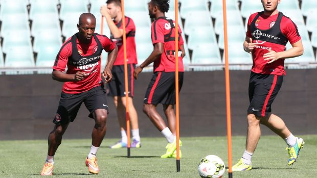 """""""I wanted to give something special to the club"""": Romeo Castelen at training."""