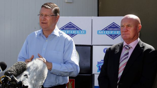 Denis Napthine and Colin McKenna of Midfield Meat.