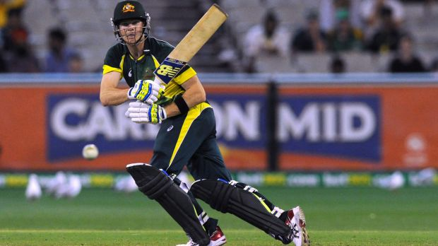 Unstoppable: Smith made a brilliant 104 from 112 balls.