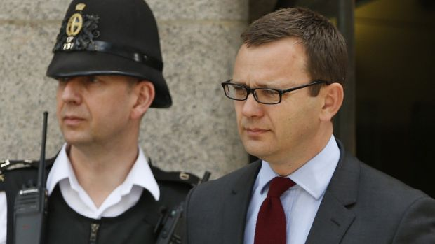 Andy Coulson, the former <i>News of the World</i> editor and one-time spin doctor of British Prime Minister David ...