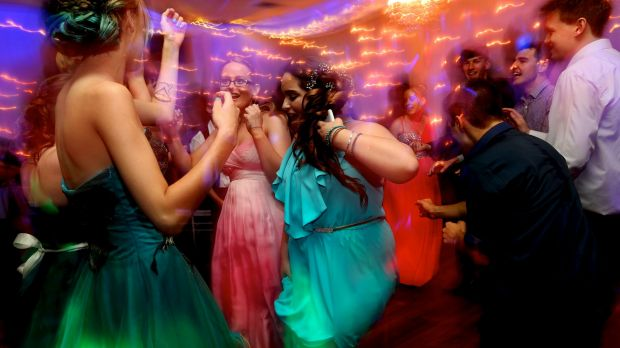 Dapto High School students at their school formal in Wollongong.