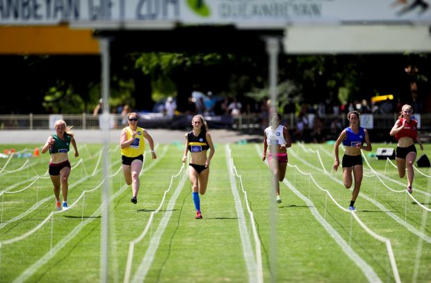 Action from the Youth Gift Female final at Queanbeyan Park.