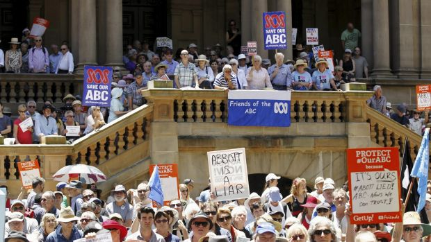 Protesters also gathered at Town Hall in Sydney.