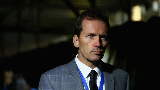 Stepped down: former Brisbane Roar coach Mike Mulvey before Friday's loss to Melbourne Victory.