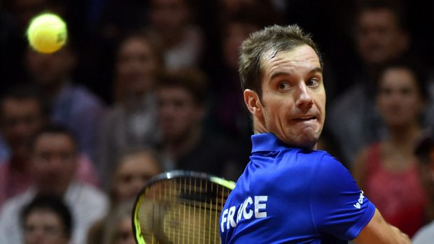France's Richard Gasquet could not match Roger Federer's winner count.