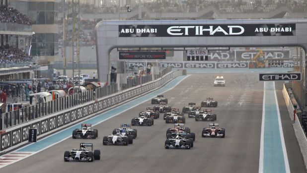 Lewis Hamilton had a far superior start to his rivals, including teammate and rival Nico Rosberg who started on pole ...