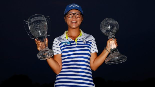 MEGA PAYDAY: Lydia Ko won $1.9m after winning the LPGA Tour Order of Merit and Tour Championship event in Florida.