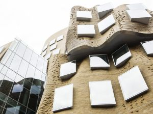 Capturing the curves: Frank Gehry's building serves as musical inspiration.
