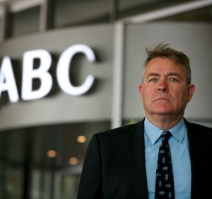 MEAA federal secretary Chris Warren was at the ABC in Ultimo on Monday where managing director Mark Scott announced ...