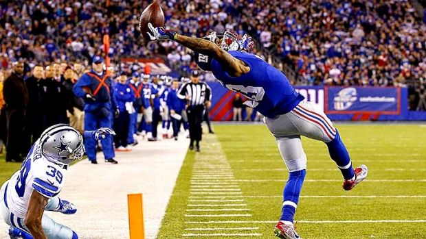 Greatest grab ever: Odell Beckham of the New York Giants scores a touchdown against the Cowboys