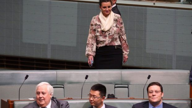 Jacqui Lambie could be reunited, politically, with Glenn Lazarus (right) after he also quit the PUP.