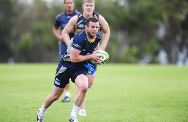 Robbie Coleman during Brumbies training at HQ, Bruce.