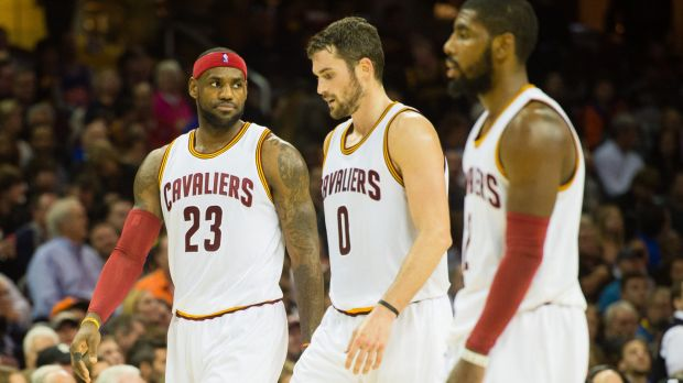 Big problems for the new Big Three: LeBron James, Kevin Love and Kyrie Irving during the loss to Toronto.