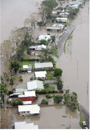 Northern Queensland town of Halifax inundated after heavy rain in the wake of Cyclone Yasi.