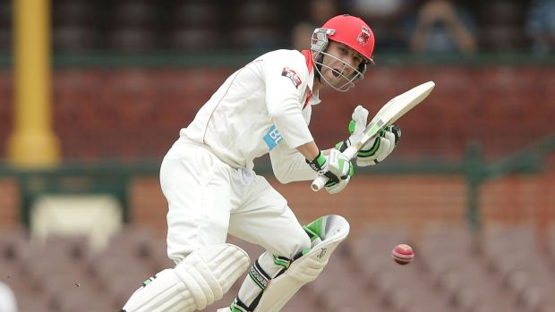 Phil Hughes during his innings at the SCG.