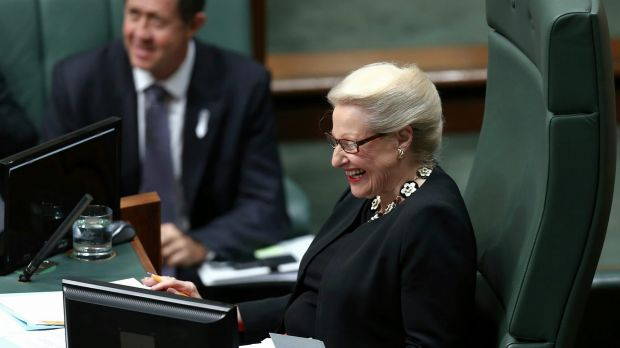 Speaker Bronwyn Bishop during Question Time on Tuesday.
