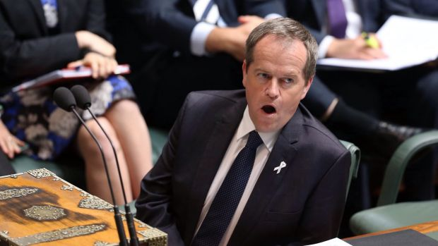 Opposition leader Bill Shorten in Question Time on Tuesday.
