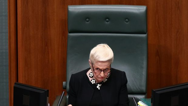 Speaker Bronwyn Bishop at the end of Question Time on Tuesday.