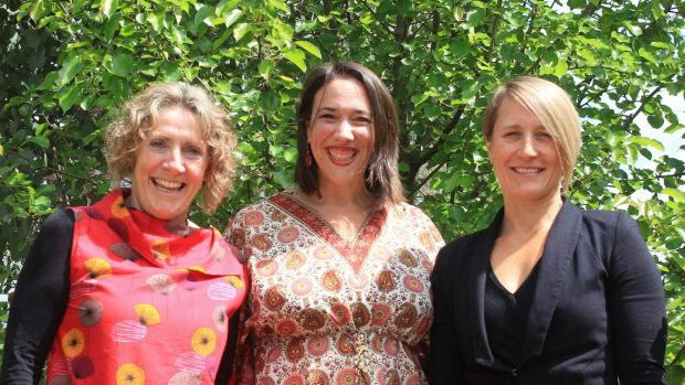 Winners: Maureen Howe, Fiona McIntosh and Megan Campbell developed a program that aims to change community attitudes ...