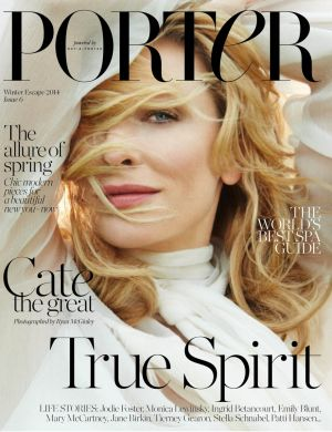Blanchett on the new cover of Porter.